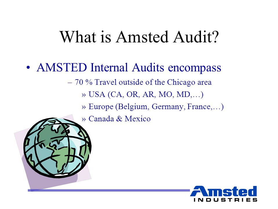 What is Amsted Audit.