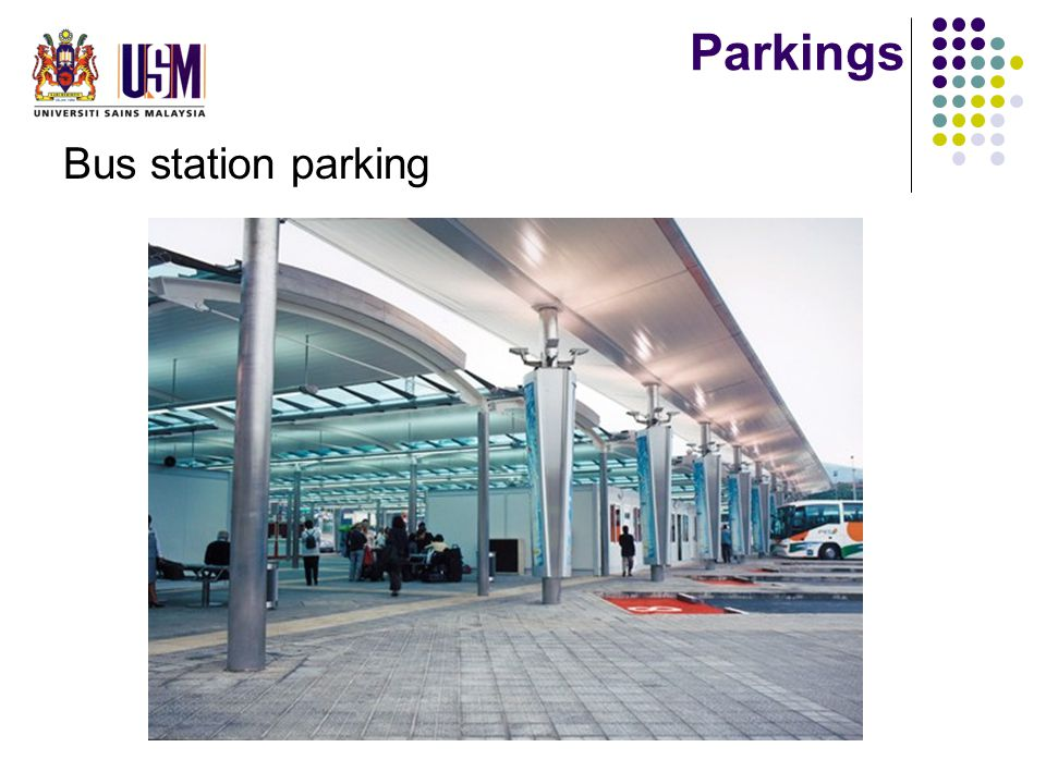 Parkings Bus station parking
