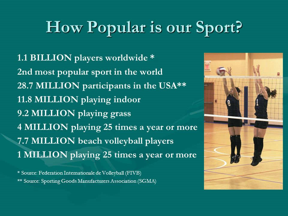 Mission Statement for USA Volleyball USA Volleyball is the National Governing Body for the sport of volleyball in the United States Our responsibilities are: Attain excellence in the sport of volleyballAttain excellence in the sport of volleyball Credential teams, administrators and officials for all sanctioned international volleyball eventsCredential teams, administrators and officials for all sanctioned international volleyball events Promote and develop, through it's member organizations, the sport of volleyballPromote and develop, through it's member organizations, the sport of volleyball Establish standards for USVBA Regional Volleyball AssociationsEstablish standards for USVBA Regional Volleyball Associations Conduct national Championships and other open competitionsConduct national Championships and other open competitions Ensure compliance with USOC policies and proceduresEnsure compliance with USOC policies and procedures