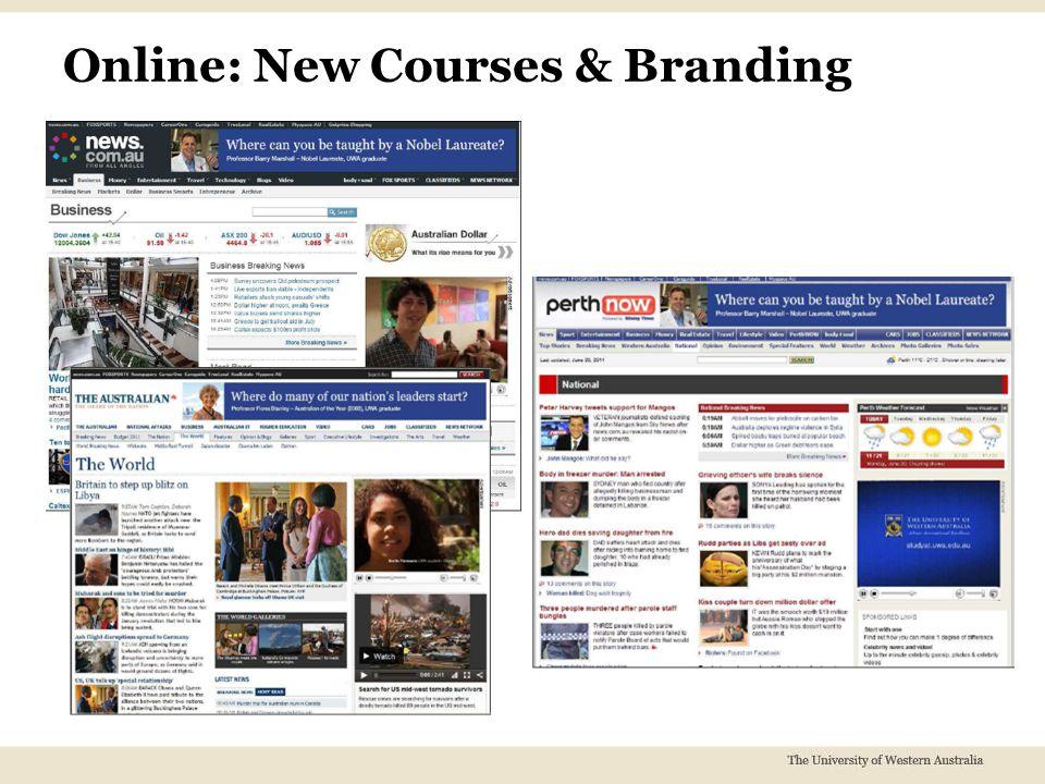 Online: New Courses & Branding