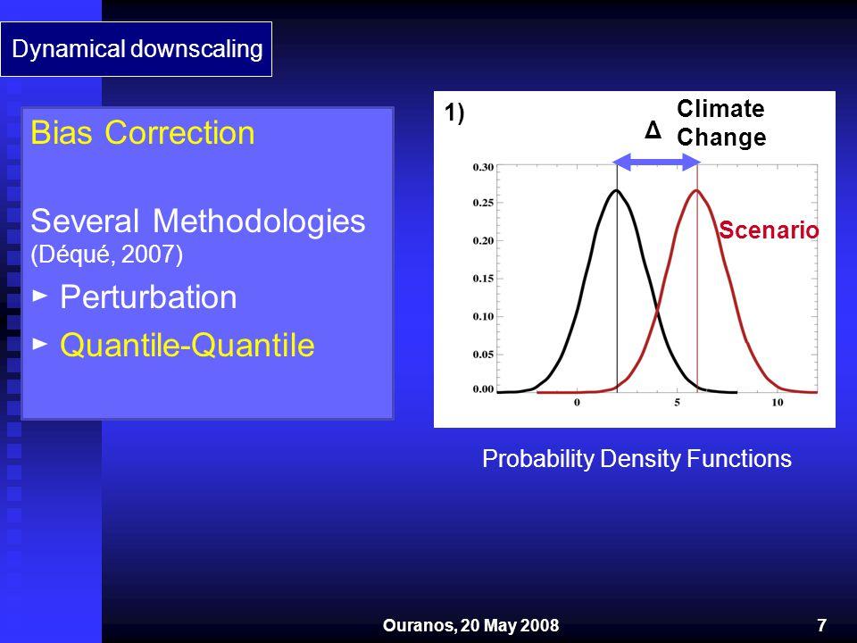 2) Model Present Model Future OBS.