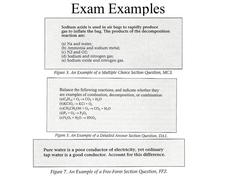 Exam Examples