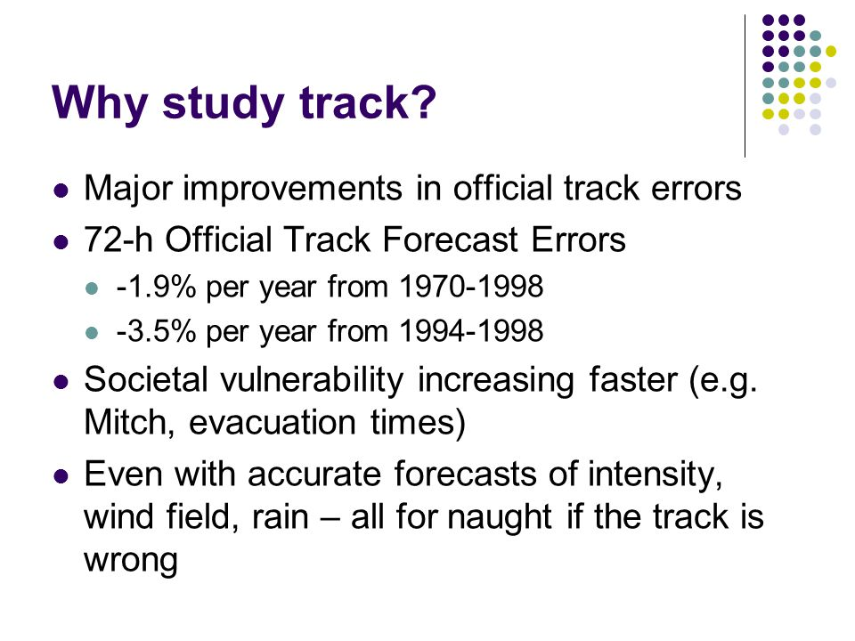 Why study track.
