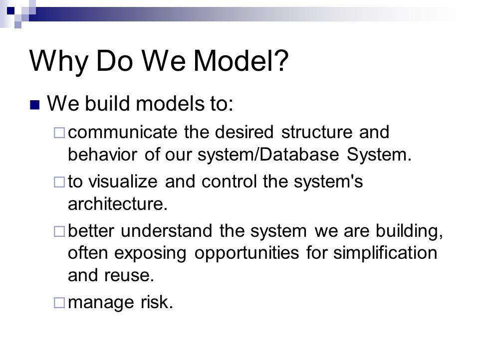 Why Do We Model.