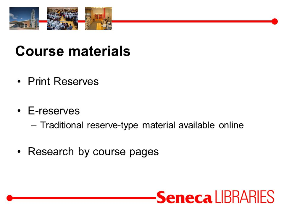 Research by Course pages