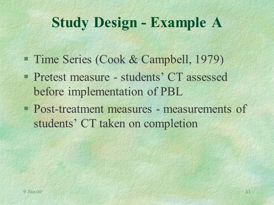 9 Jun 0010 Measuring CT: Some problems & possible solutions §(2) What procedures should be used to test the impact of a specific intervention on students' CT?