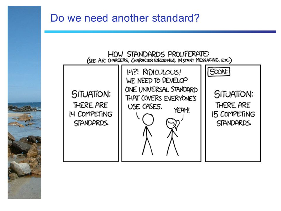Do we need another standard?