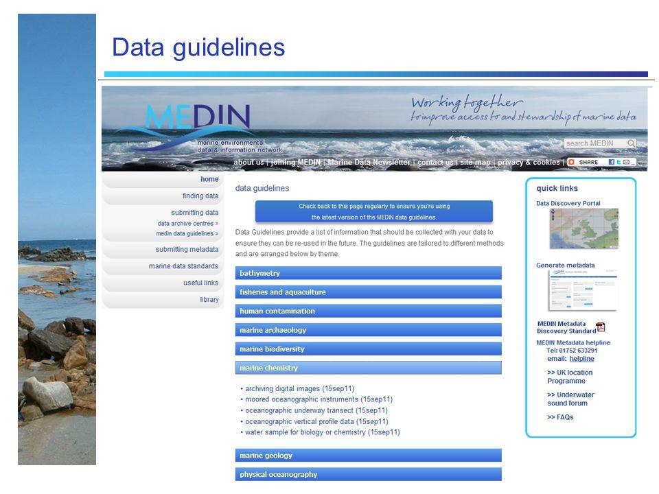 Data guidelines