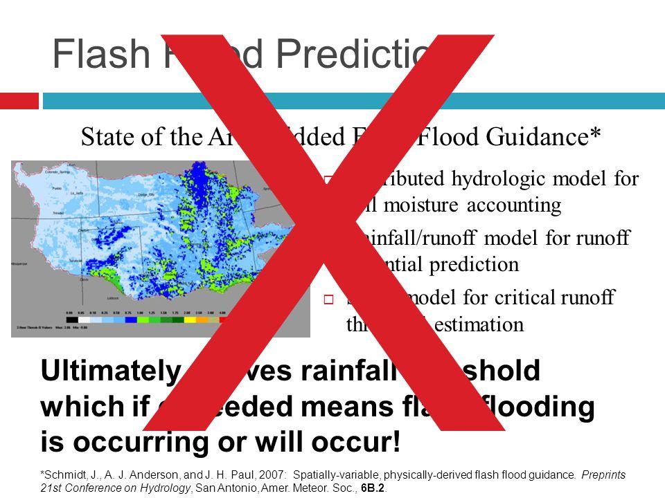 Flash Flood Prediction.