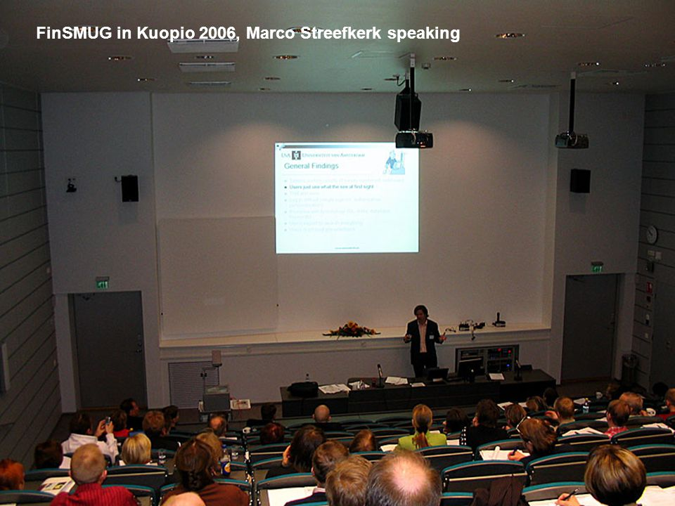 The National Library of Finland FinSMUG in Kuopio 2006, Marco Streefkerk speaking