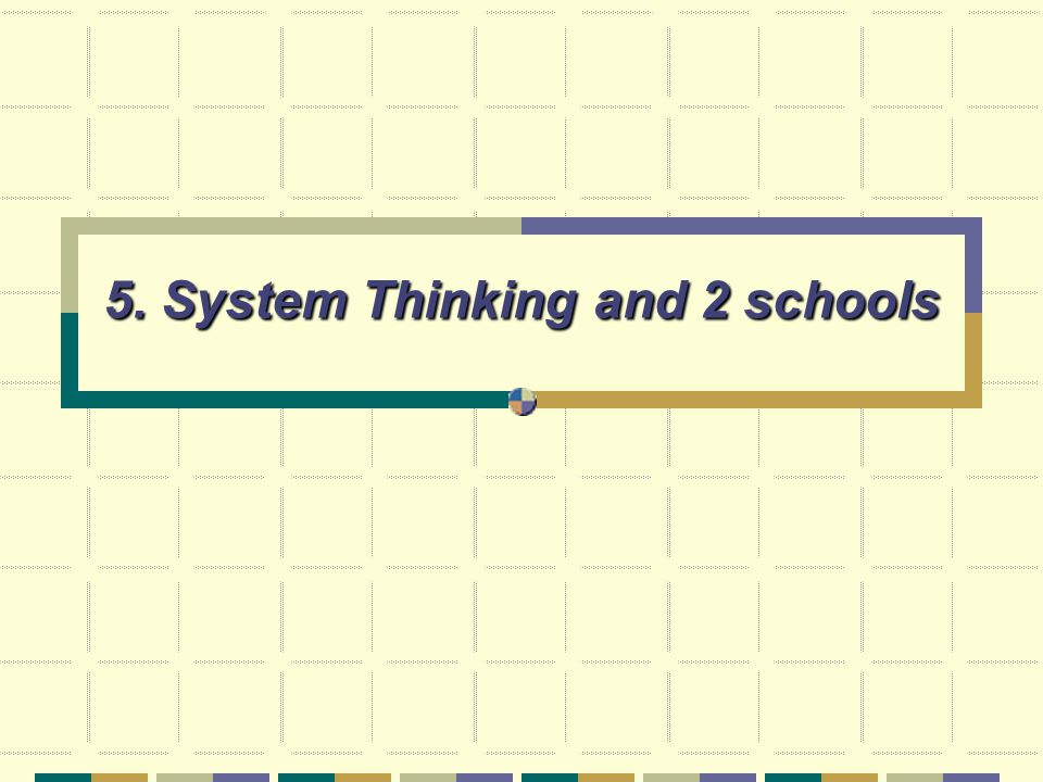 5. System Thinking and 2 schools