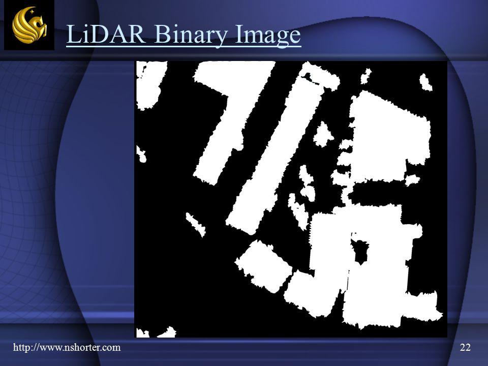 http://www.nshorter.com22 LiDAR Binary Image