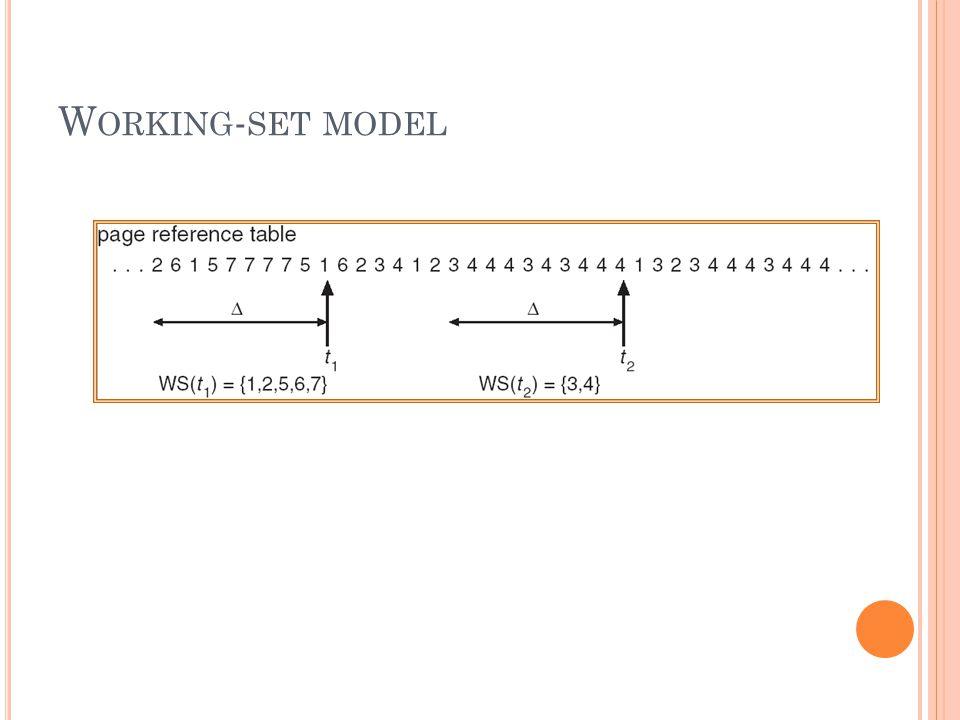 W ORKING - SET MODEL