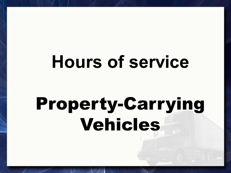 Hours-of-service regulations A gross vehicle weight rating, gross vehicle weight, gross combination weight rating, or gross combination weight of 10,001 pounds or more, whichever is greater A gross vehicle weight rating, gross vehicle weight, gross combination weight rating, or gross combination weight of 10,001 pounds or more, whichever is greater 1b