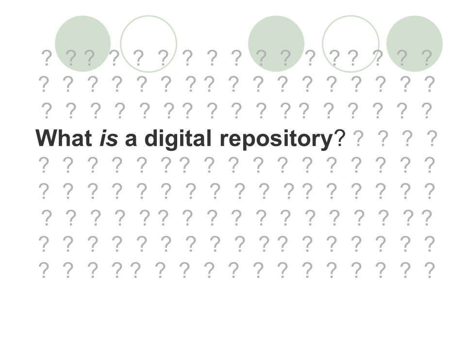 What is a digital repository.