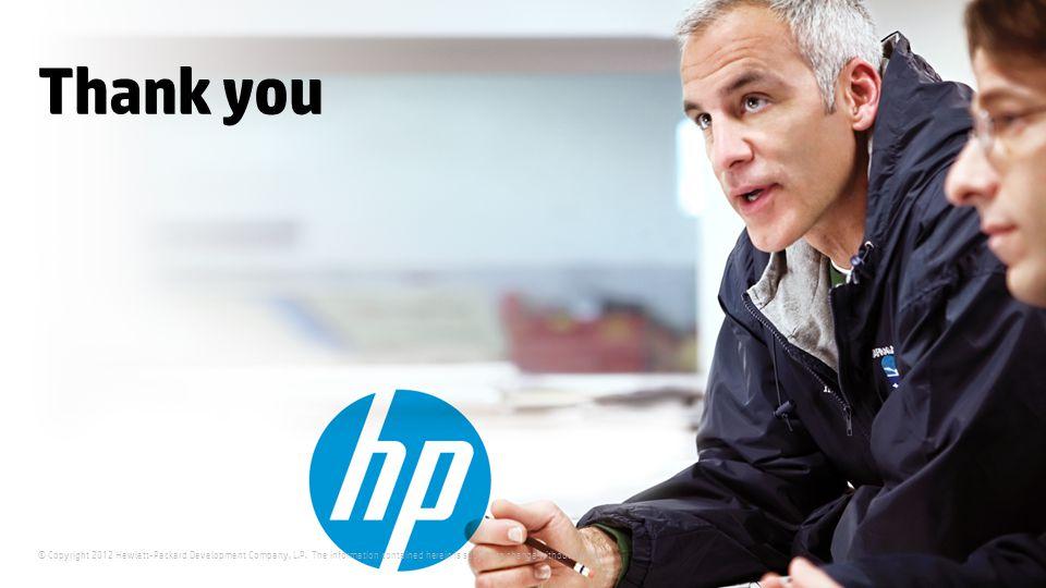 © Copyright 2012 Hewlett-Packard Development Company, L.P.