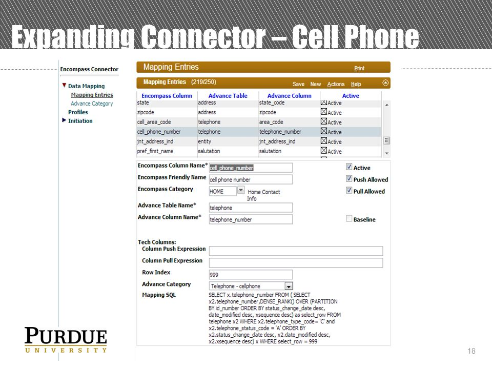 18 Expanding Connector – Cell Phone