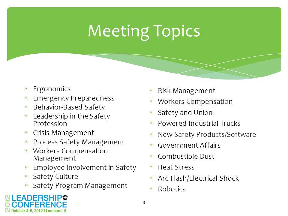 Meeting Logistics Meeting Locations 19