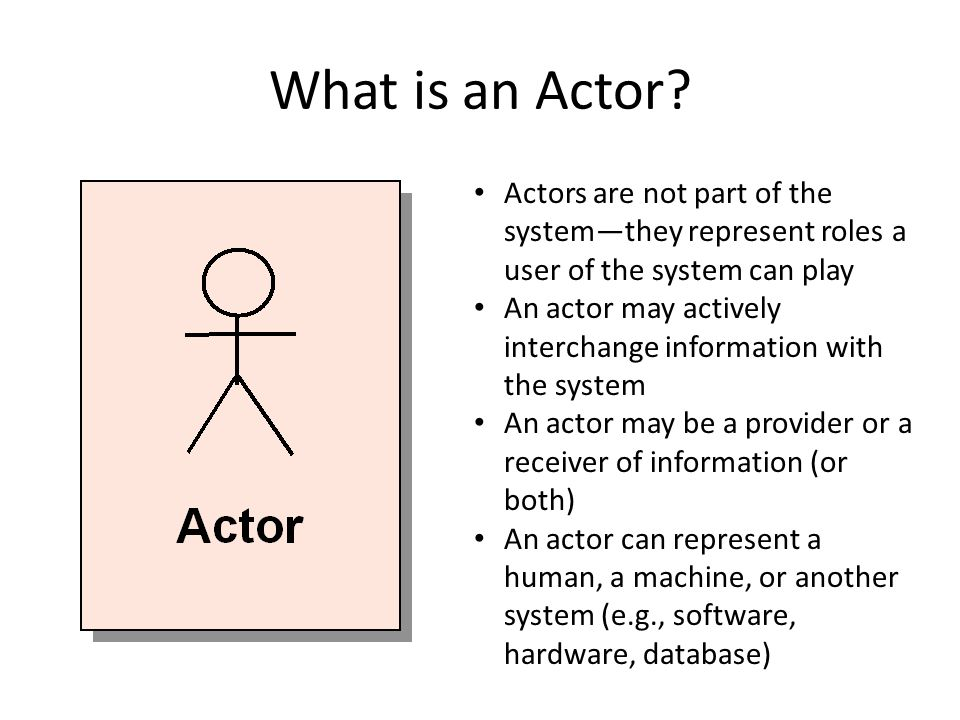 What is an Actor.