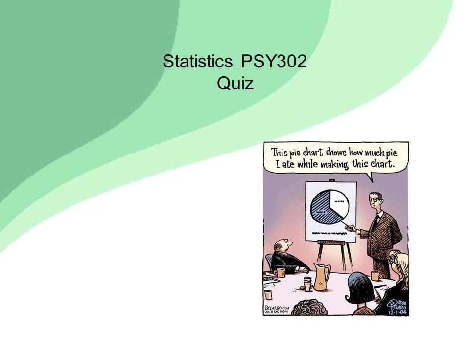 Statistics PSY302 Quiz