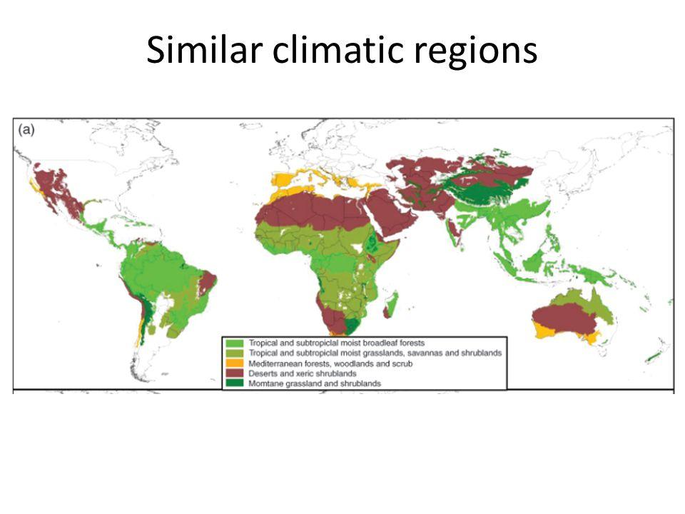 Similar climatic regions