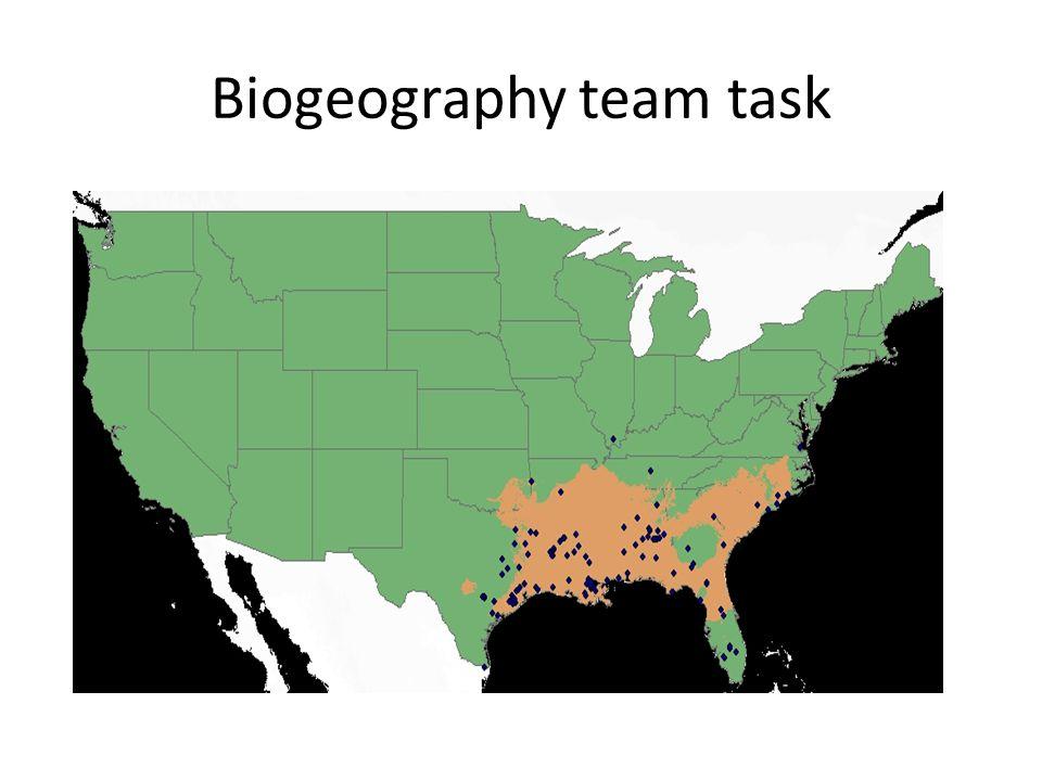 Biogeography team task