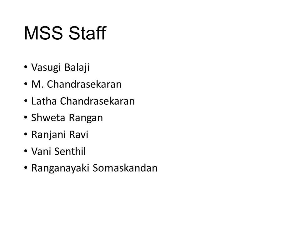 MSS Staff Vasugi Balaji M.