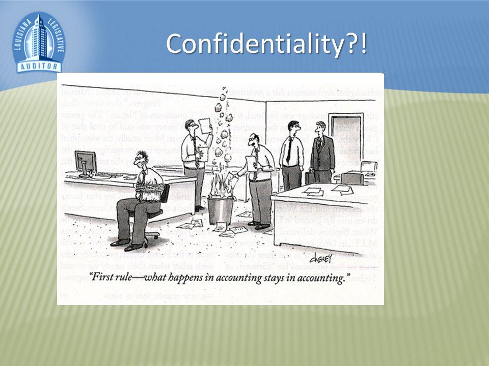 Confidentiality !