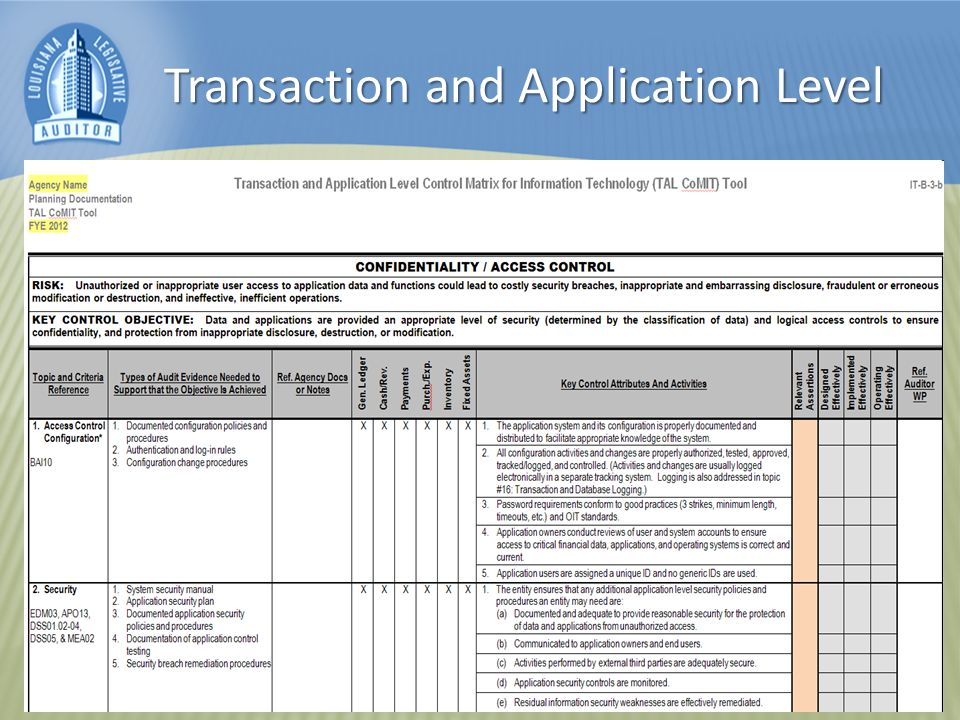 Transaction and Application Level
