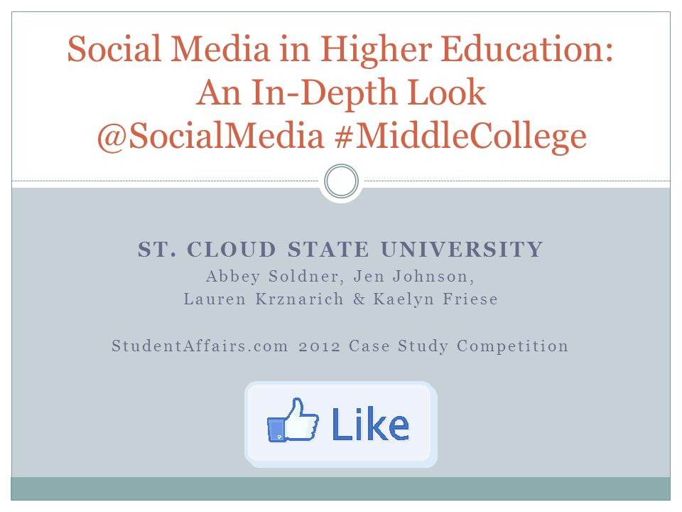 Welcome.Welcome, Middle College Social Media Committee Members.