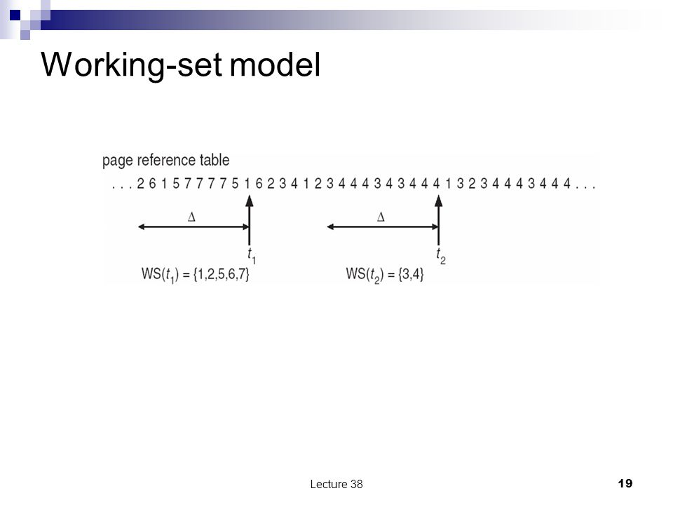 Working-set model Lecture 3819