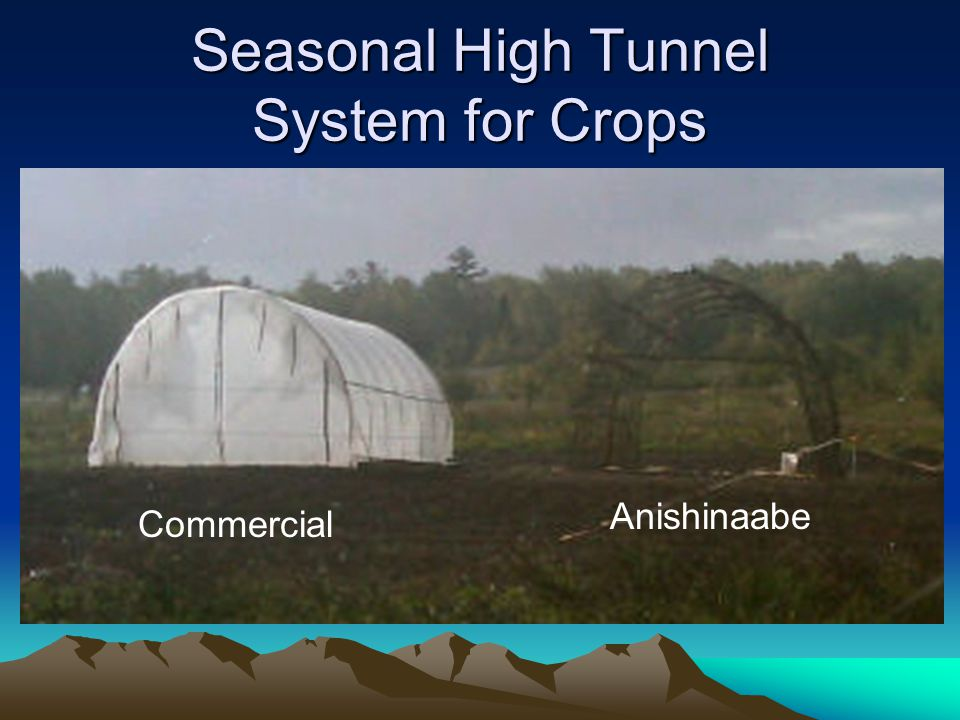 Seasonal High Tunnel System for Crops Anishinaabe Commercial