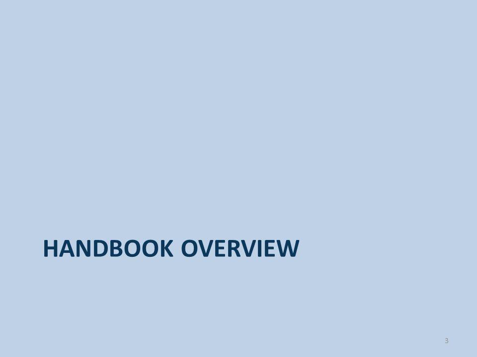 HANDBOOK OVERVIEW 3