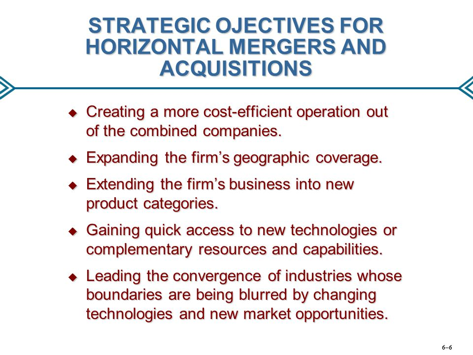 WHY MERGERS AND ACQUISITIONS SOMETIMES FAIL TO PRODUCE ANTICIPATED RESULTS  Strategic Issues: ● Cost savings may prove smaller than expected.