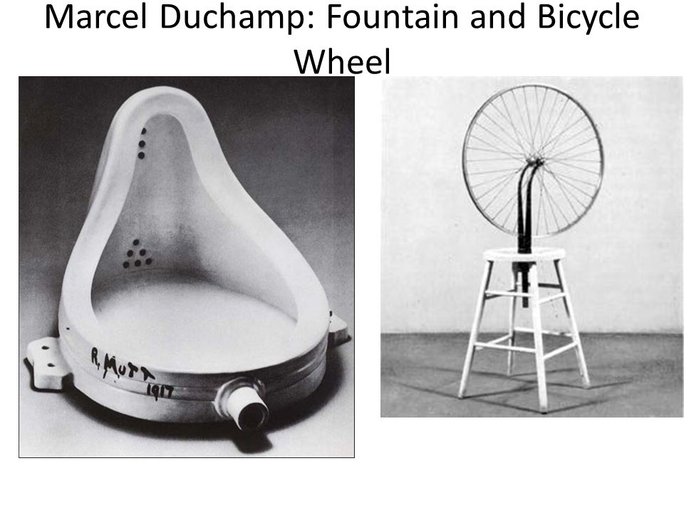 Marcel Duchamp: Fountain and Bicycle Wheel