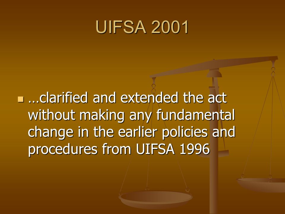UIFSA 2001 Example: Example: Family Code §4953(a) Family Code §4953(a)