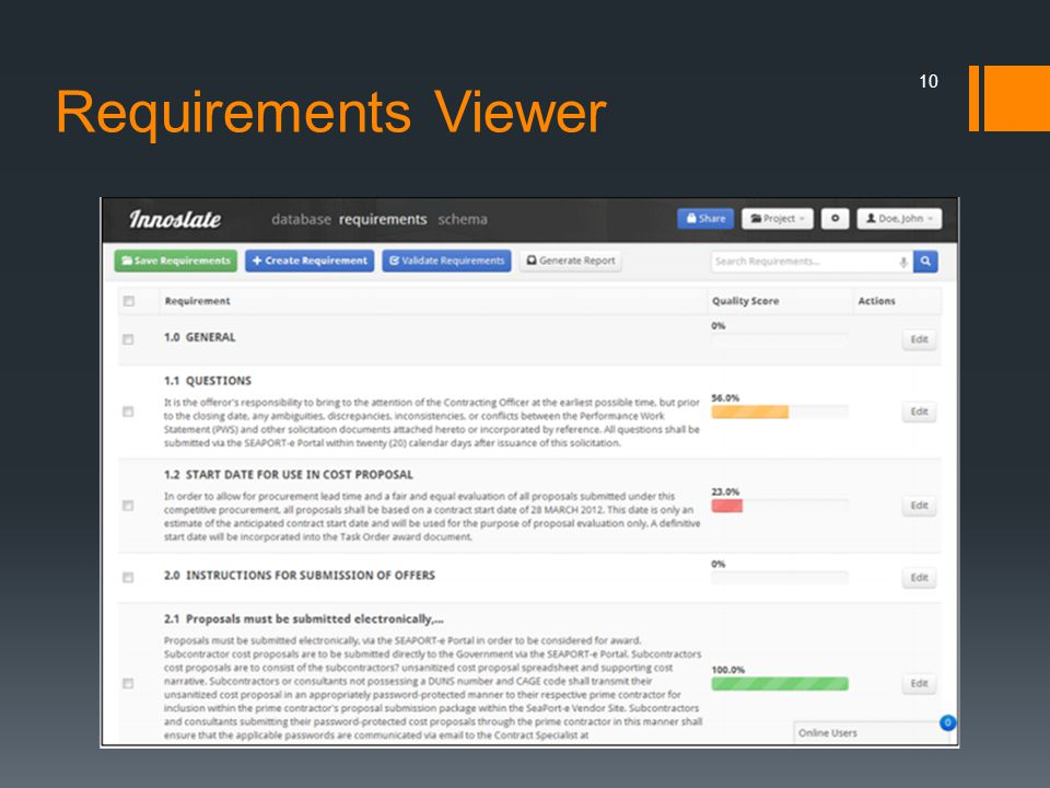 Requirements Viewer 10