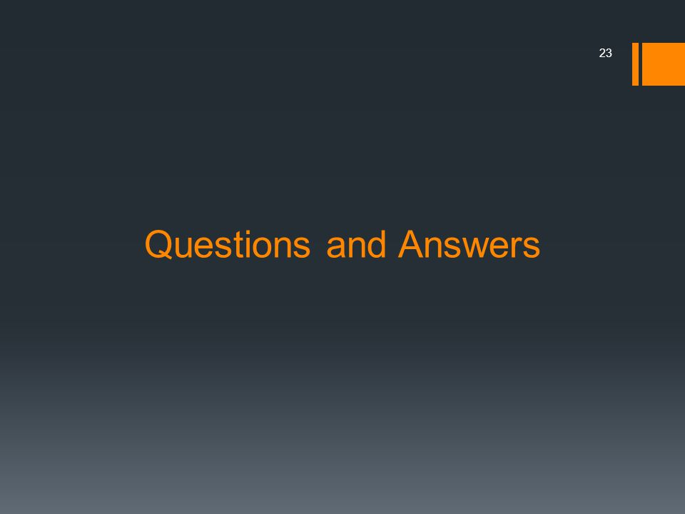 Questions and Answers 23