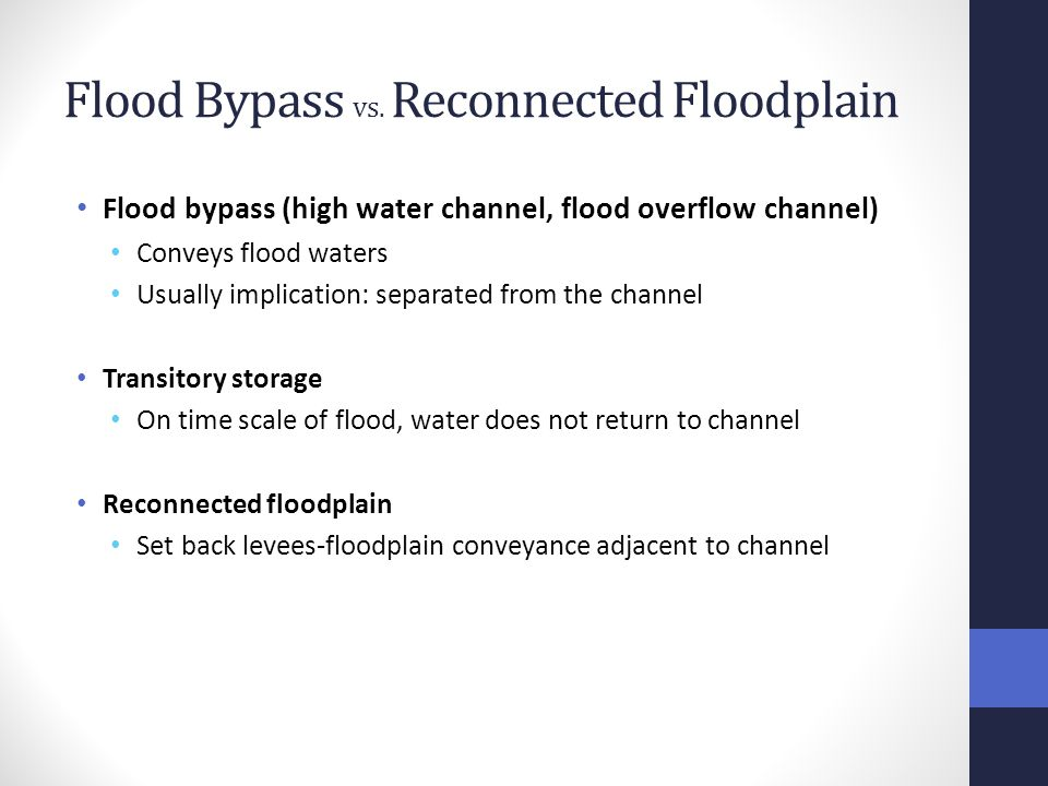Flood Bypass vs.