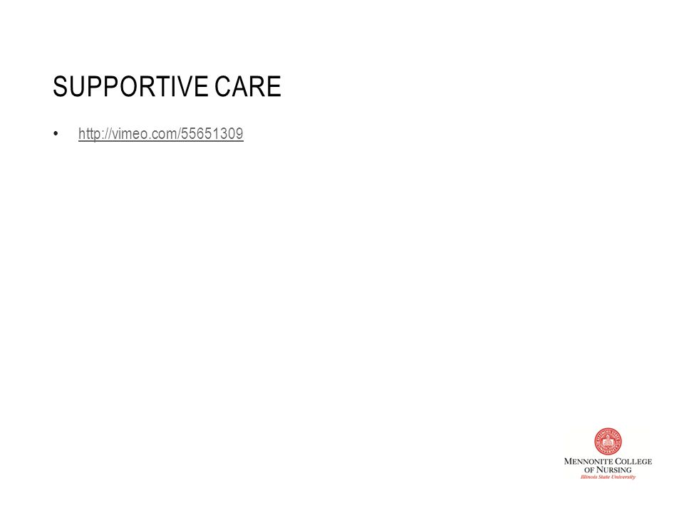 SUPPORTIVE CARE http://vimeo.com/55651309