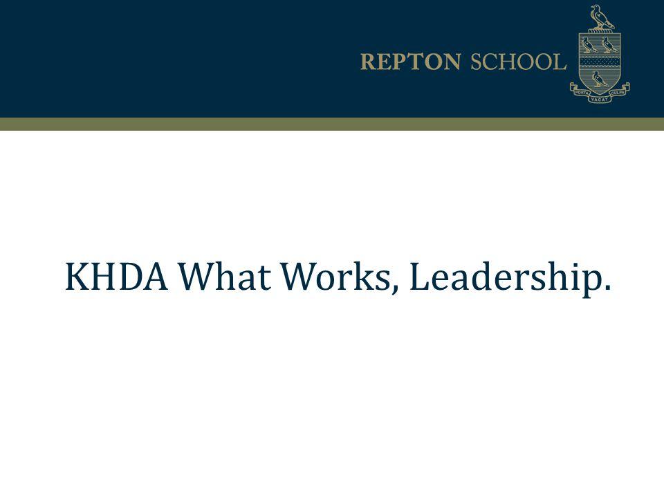KHDA What Works, Leadership.