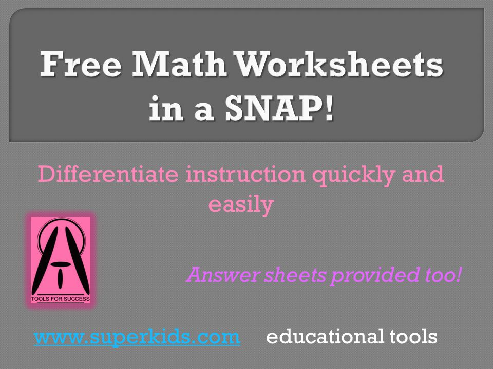 Differentiate instruction quickly and easily Answer sheets provided ...