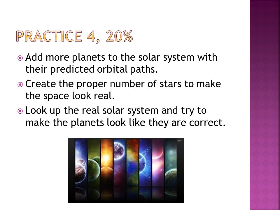  Add more planets to the solar system with their predicted orbital paths.
