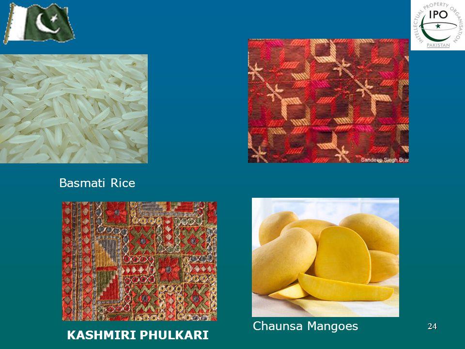 24 Basmati Rice Chaunsa Mangoes KASHMIRI PHULKARI