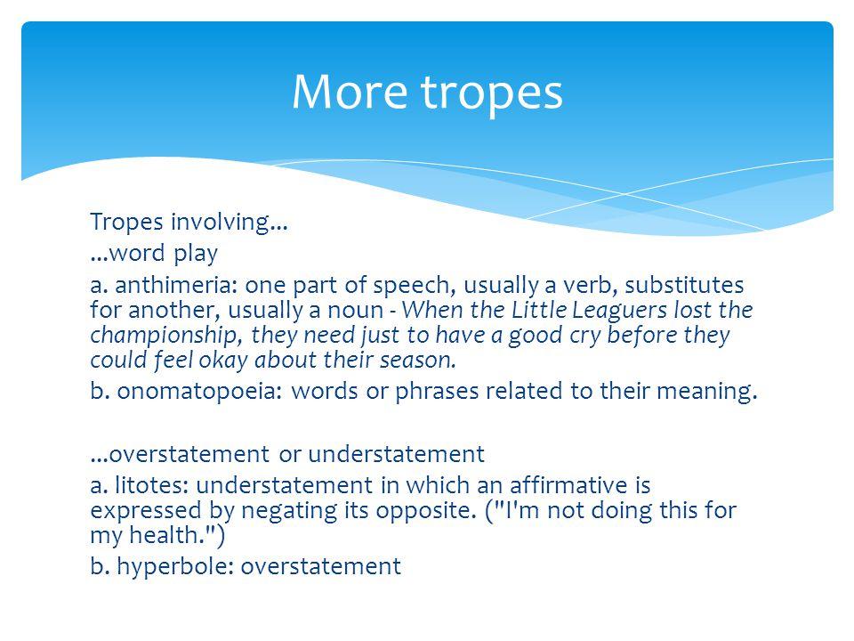 Tropes involving......word play a.