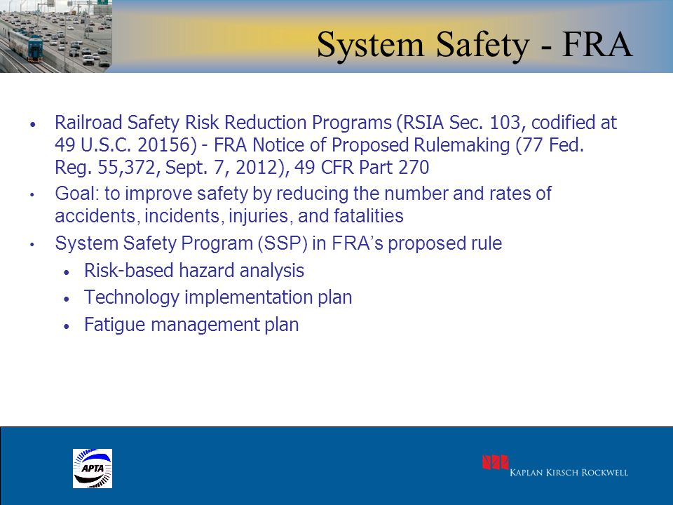 5 Railroad Safety Risk Reduction Programs (RSIA Sec.