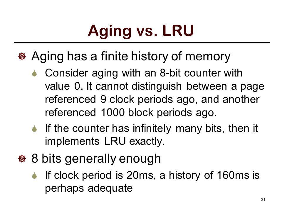 Aging vs.