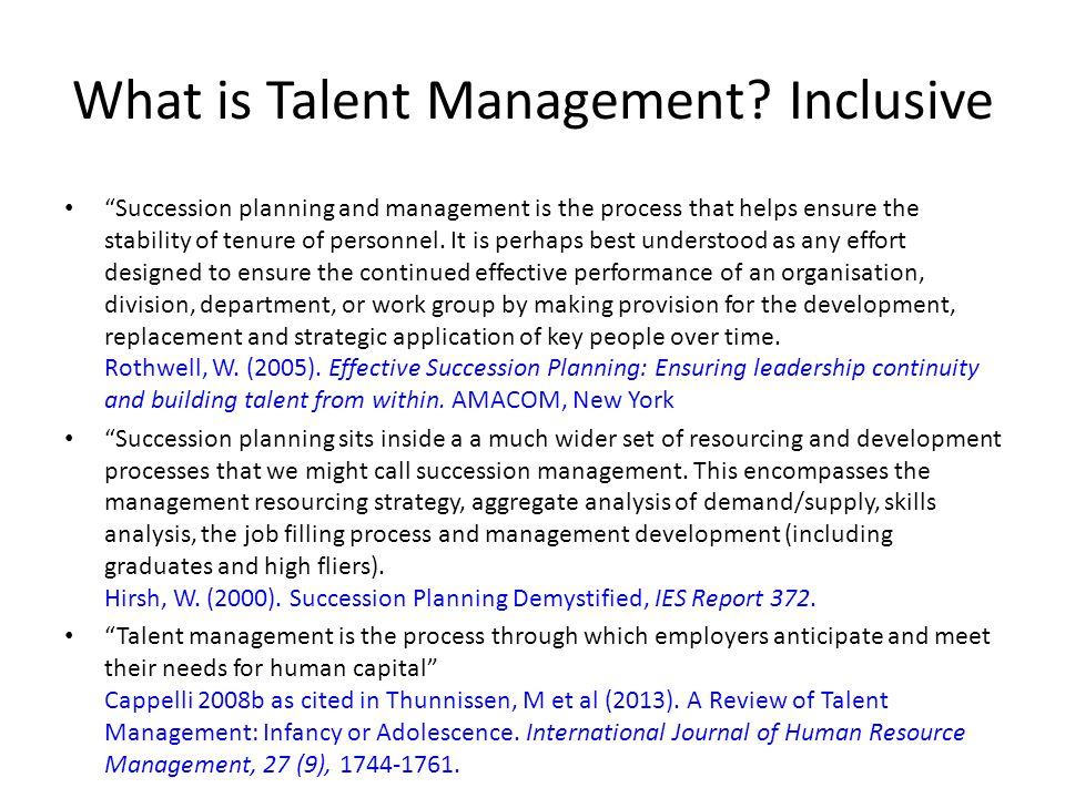 Why is Talent Management important.