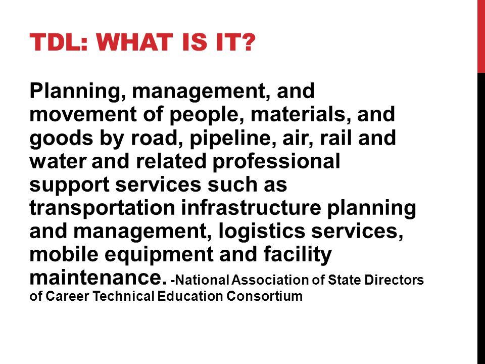 TDL: WHAT IS IT.