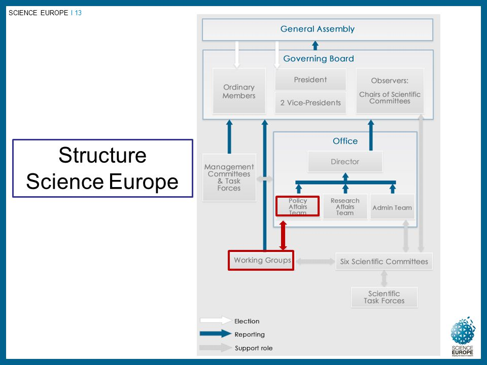 SCIENCE EUROPE I 13 Structure Science Europe